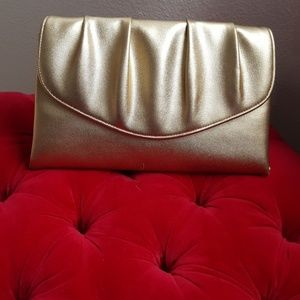 Handbags - BOGO SALE - Gold Evening Clutch Purse